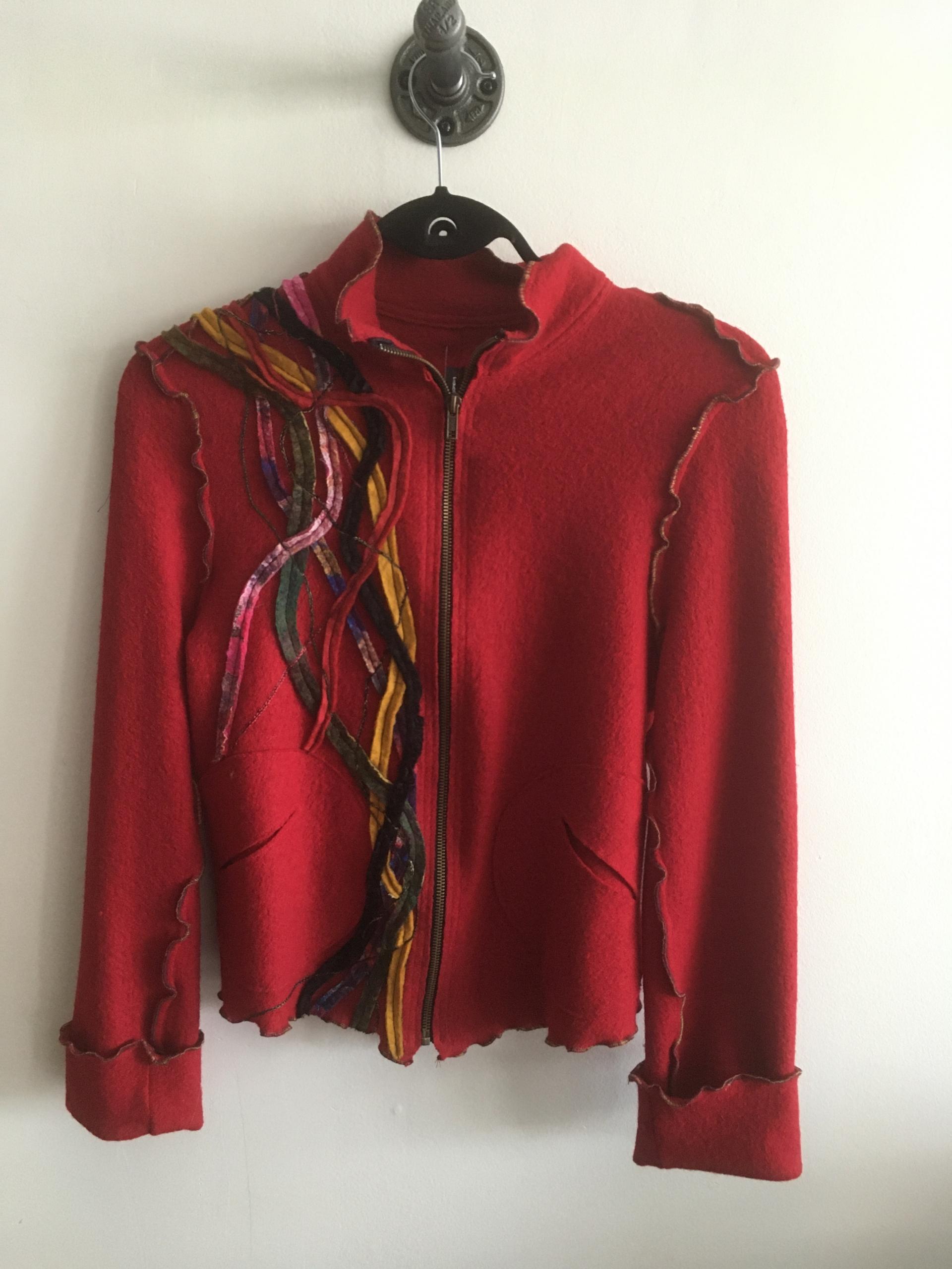 veste courte laine bouillie r