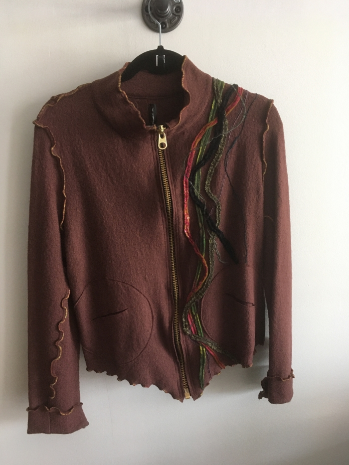 veste laine bouillie brune Medium:large