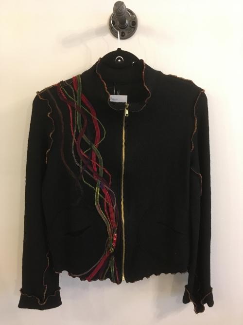 veste laine bouillie noire Medium