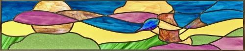 Vitrail 1 oiseau Savoie