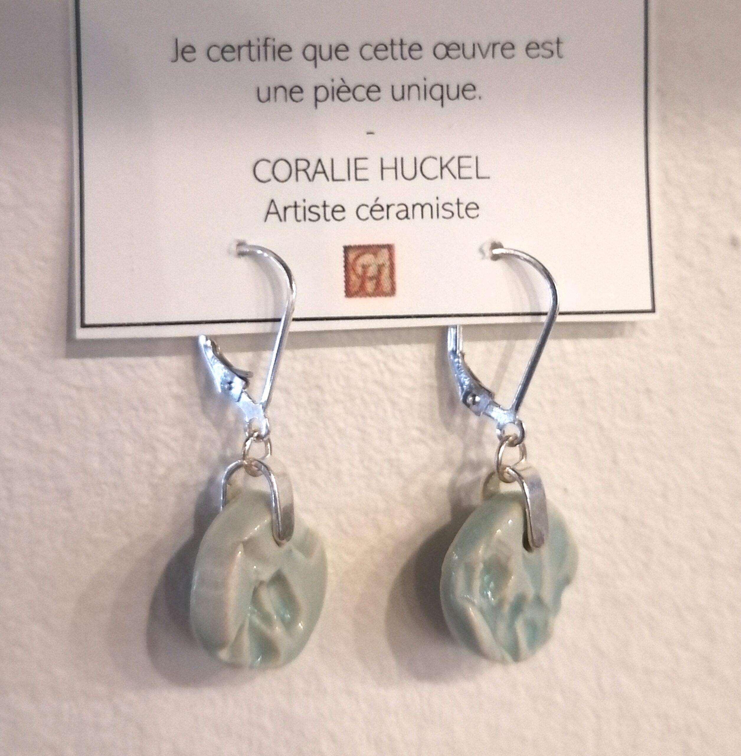 #32 B. Oreilles petites rondes Coll Turquoise